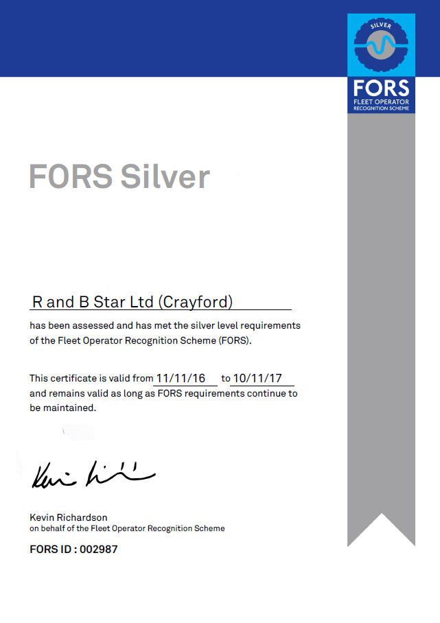 Fors Silver Accreditation R Amp B Star Electrical